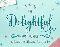 The Delightful Font Bundle Only $19