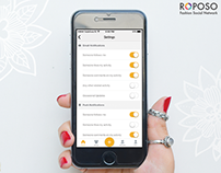 Setting page for Roposo