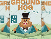 Ground Hog Day Flyer - Community A5 Template