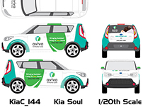Aviva In-Home Care Car Wrap Design