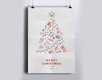 Minimal Icon Christmas Flyer