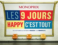 MONOPRIX // 9 JOURS PRINT CAMPAIGN