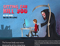 Sitting can kill you Infographic