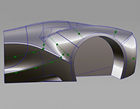 Modeling practice // Rear fender
