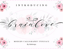 Brainlove - a Lovely Calligraphy Font