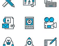 Marketing & Development Line Icons Set