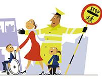 Children's storybook illustrations for Nationwide