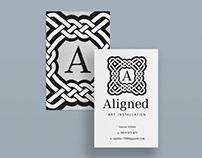 Aligned Art Installation Business Cards