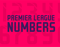 Premier League Numbers Concept
