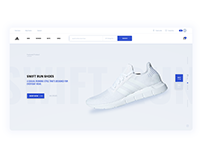 Adidas. E-commerce website - concept.