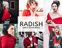 Free Radish Mobile & Desktop Lightroom Presets