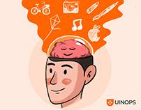 UINOPS - Logo, Website & illustrations