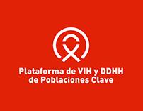 Plataforma de VIH y DDHH - Propuesta de Logotipo