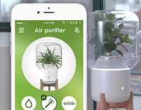 Air purifier - app for smart home concept