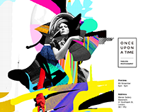 'Once Upon A Time' Exhibition Logo & Poster