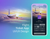 Flight & Tour Search - Mobile App UI/UX Design