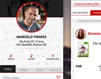 Exchanges games app prototype