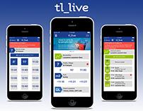 Design application TL (Transport Lausannois)