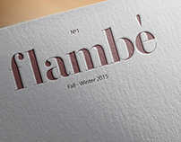 Flambè, a magazine about food