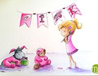 doodleart | pink
