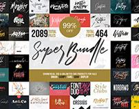 SUPER-FONT-BUNDLE! 99% OFF!