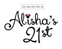 21st Party Invitation | Layout
