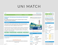 UniMatch course search and comparison tool
