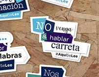 Stickers #AquíSeLee - Secretaría Educación del Distrito