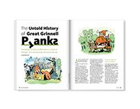 Pranks –magazine feature design