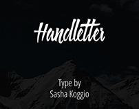 Handletter. Free Font.