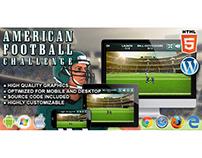 HTML5 Game: American Football Challenge