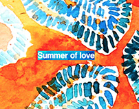 Summer of love - a set of fashion illustrations