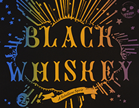 Black Whiskey launch poster