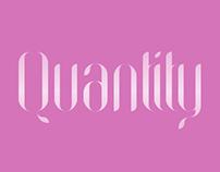 Quantity typography investigation