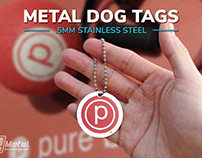 Custom Stainless Steel Metal Dog Tags