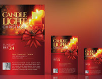 Christmas Candle Light Flyer Poster Template