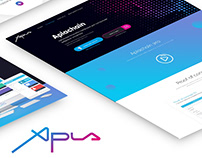 Responsive landing page Aplachain / UI/UX / website