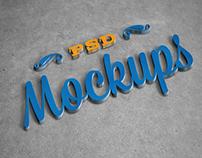 3D Logo Mock-up Vol 2 (Free)