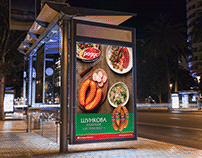 Outdoor print design for food company