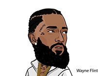 Nipsey Hu$$Le Illustration by Wayne Flint