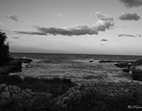 the black and white sea