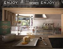 Coffee&Kitchen restaurant interior