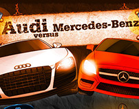 Audi Vs. Mercedes Benz [Infograph]
