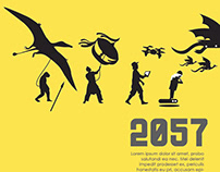 POSTER DESIGN SERIES - 2057 ART EXHIBITION