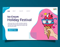 Ice Cream Festival Landing Page Design