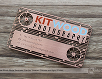 Copper Metal Business Card with Custom Cutouts