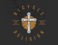 Logotype and illustration for Bicycle Religion