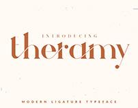 Theramy - Modern Ligature Font