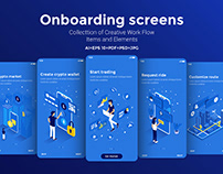 Modern user interface UX, UI screen template