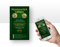 Online banners and Ad (client: Numismatika Turnov)